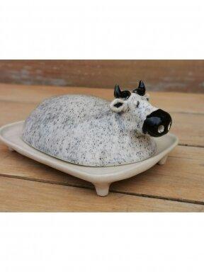 Keramikos rankų darbo sviestinė Karvutė