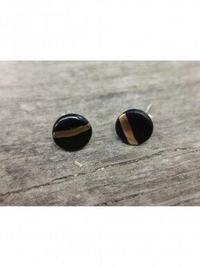 Keraminiai auskarėliai juodi