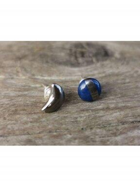 Keraminiai auskarėliai mėlynas ir mėnulis
