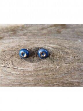 Keraminiai auskarėliai mėlyni