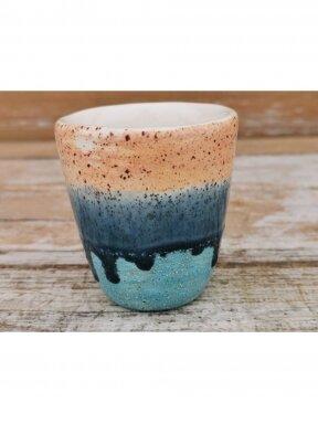 """Keraminis puodelis """"Jūra, smėlis ir dangus"""""""